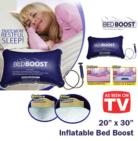 As Seen On TV Bed Boost Mattress Support Sagging Pump Quick Easy Lift Comfort