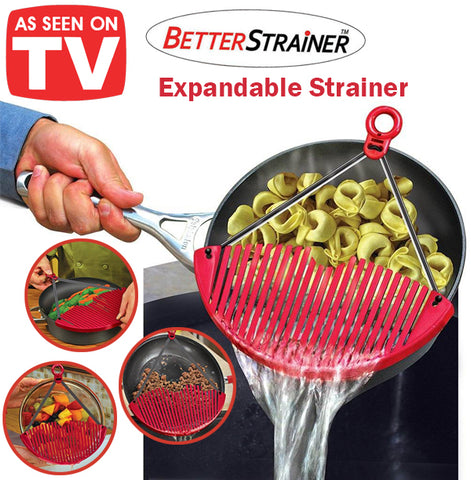 As Seen On TV Better Strainer Expandable Strainer Sieve Siever Space Saver Safe