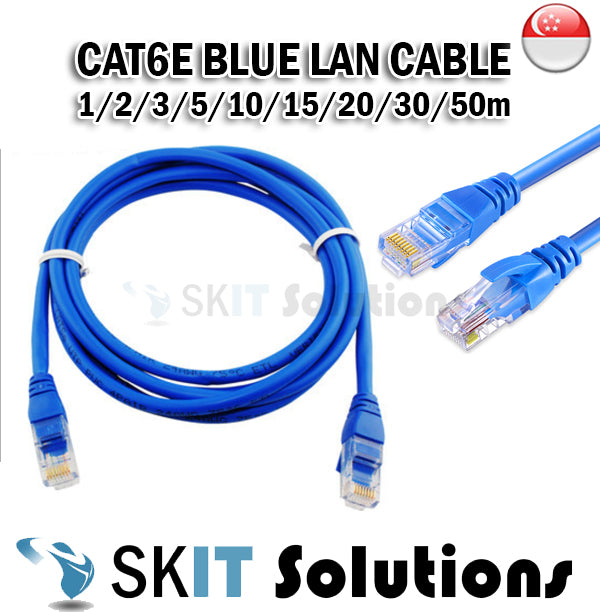 ★ Cat 6E ★ LAN Ethernet Networking Round Cable for Internet Modem/Router/Printer/Laptop 1/2/3/5/10/15m