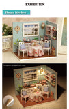 CuteRoom Happy Kitchen★Miniature Doll House Dollhouse★DIY Gift Wooden Handmade