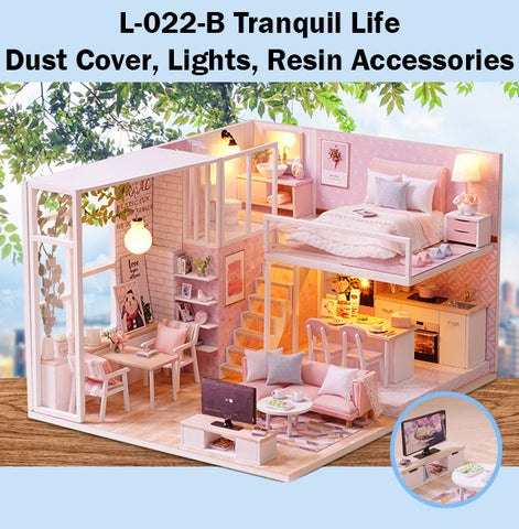 CuteRoom Tranquil Life★Miniature Doll House Dollhouse★DIY Gift Wooden Handmade