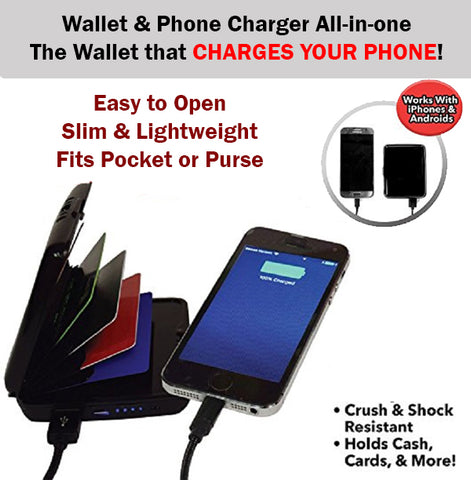 Atomic Charge Wallet Card Power Bank Phone Handphone Android iPhone iOS Samsung