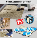 As Seen On TV Clean Step Mat Super Absorbent Doormat Door Floor Carpet Rug Clean