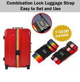 Combination Lock Luggage Strap Baggage Travel Bag Number Locks Vibrant Colour