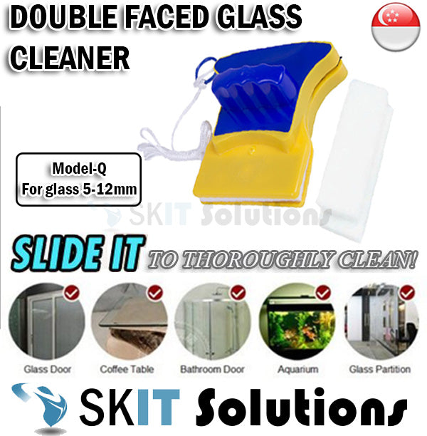 Magnetic Double Faced Window Glass Cleaner★Easy n Safe Cleaning Tool ★Clean Wiper Dust Sands Model Q