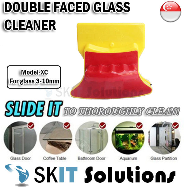 Magnetic Double Faced Window Glass Cleaner★Easy n Safe Cleaning Tool ★Clean Wiper Dust Sand Model XC