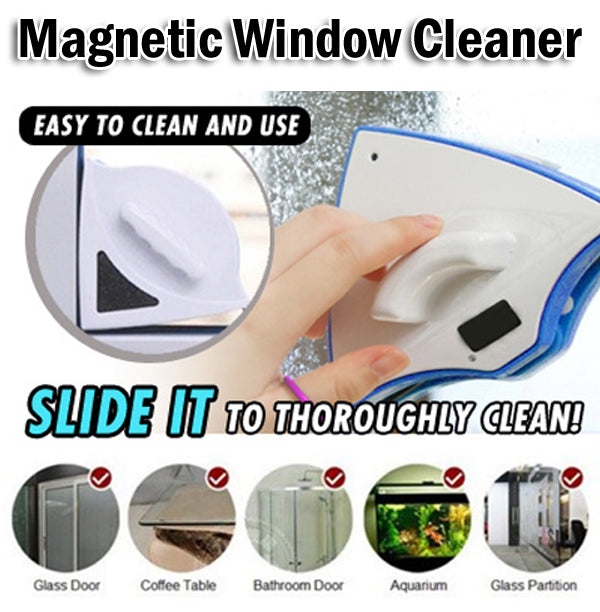 Magnetic Double Faced Window Glass Cleaner Tool