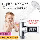 Digital Shower Thermometer LED Display of Quick Real Time Temperature Read Bath