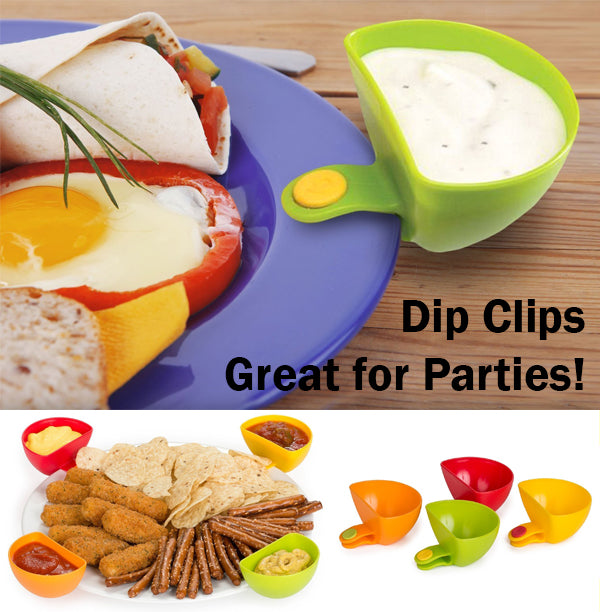 Dip Clips Clip Sauce Plate Mini Bowl Saucer Plastic Party for Children Kids