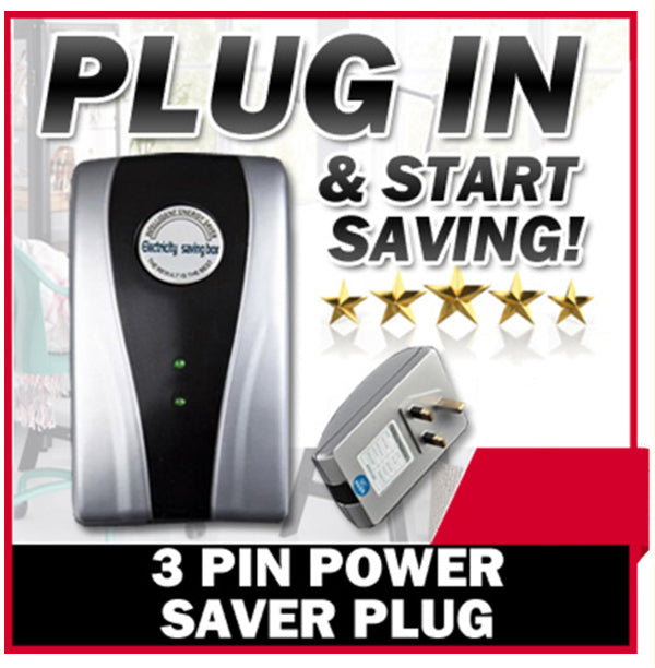 Electricity Saving Box 3 Pin Power Energy Saver: No Installation - Plug and Save