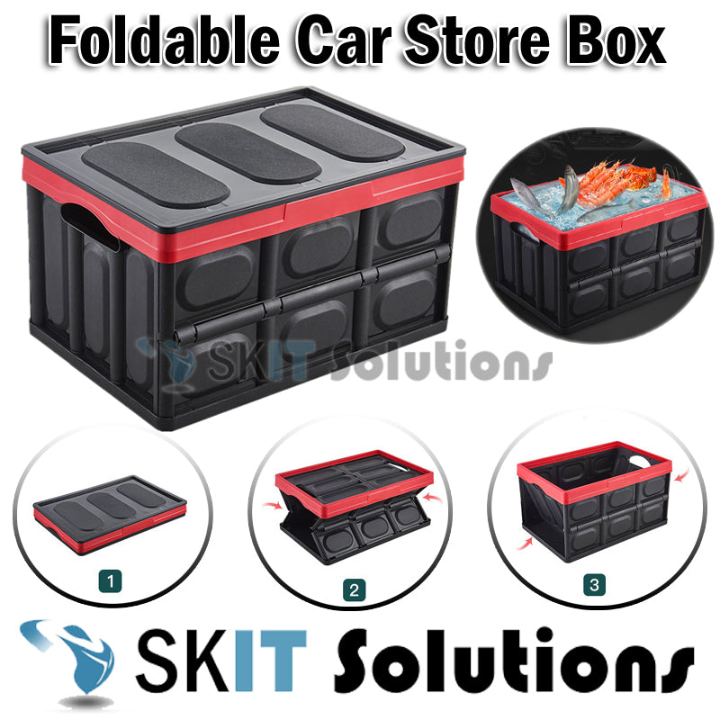 30L / 55L Foldable Car Boot Storage Box Collapsible Organizer