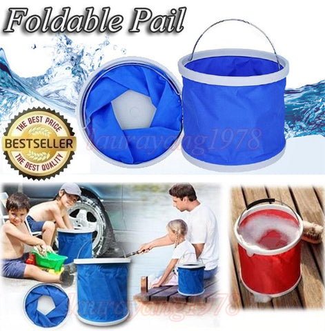 100% Waterproof and Foldable Outdoor Water Pail 11 Litre