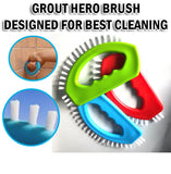 3 PCS Set Grout Hero Brush Cleaning Corners Tiles Clean Tools Thin Convenient Easy Cleaner