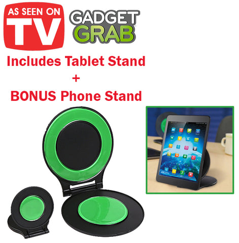 Gadget Grab Phone Stand Mobile Handphone Tablet Hands Free Vertical Horizontal