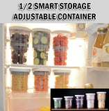 1/2 Smart Storage Adjustment Container Airtight Store Organiser Kitchen Organizer 470ml-960ml