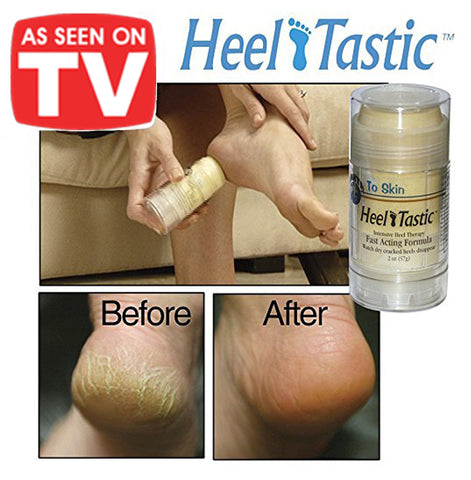 As Seen On TV Heel Tastic Cracked Chapped Heels Natural Neem Karanja Oil Therapy