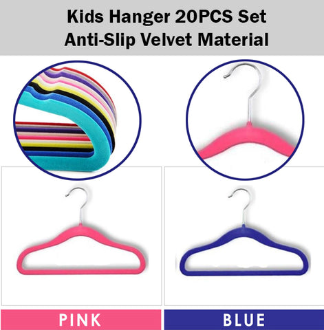 Anti-Slip Velvet Material Kids Hanger Children Child Wardrobe Clothes Clothing