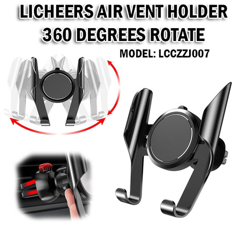 Licheers Air Vent Car Holder Phone Handphone 360 Degrees Rotate Rotational Rotatable LCCZZJ007