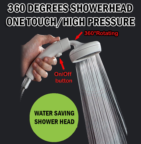 360° Rotatable High Pressure Showerhead Life Shower Head Bathroom Water Conservation Saving