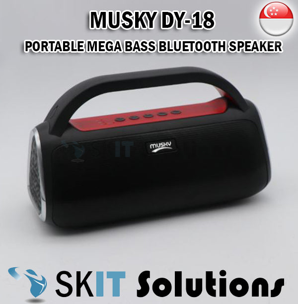 Musky DY-18 Portable Wireless Bluetooth Speaker FM Radio Hands-free With Microphone Micro USB