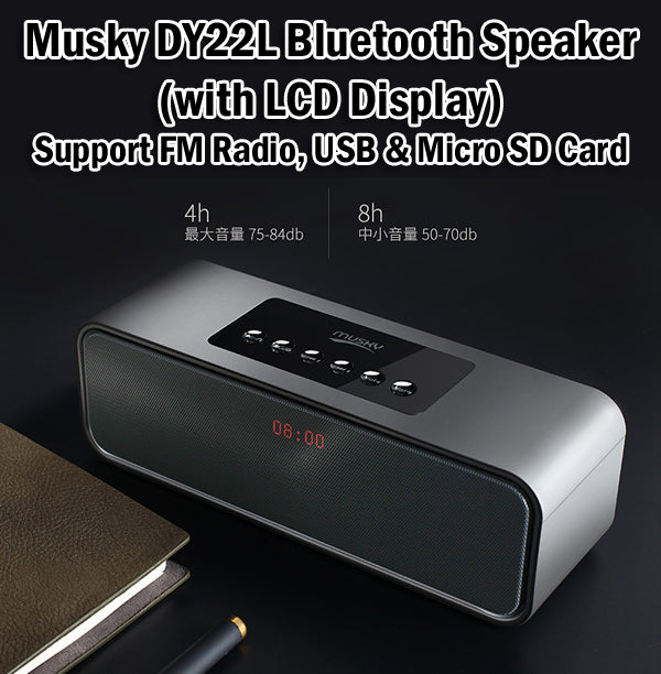 Musky DY22L Bluetooth Speaker Portable Wireless FM Radio SD Card