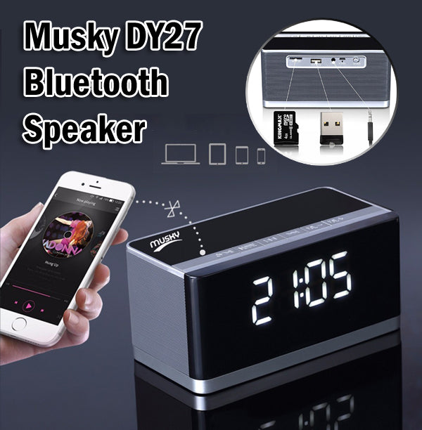 Musky DY27 Bluetooth Mini HiFi Speaker Portable Wireless FM Radio Micro SD Card