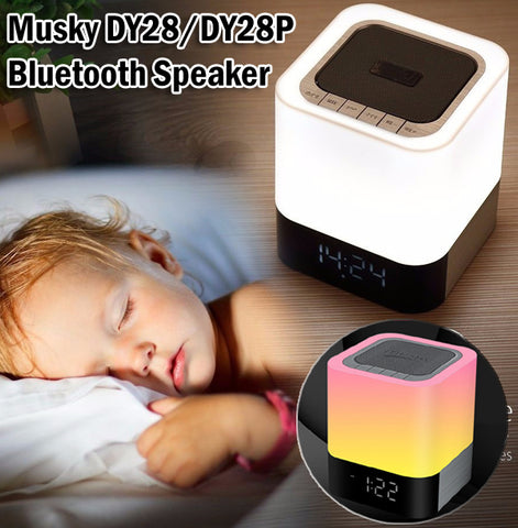 Musky DY28 / DY28P Bluetooth Speaker LED Light Portable Wireless Mini HIFI SD Card Alarm