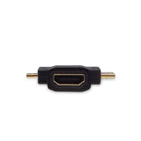 3in1 Micro HDMI Male and Mini HDMI Male to HDMI Female Adapter Converter Laptop