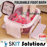 New Foldable Collapsible Foot Bath Portable Bucket Foot Massager Soak Basin Foot Relax Wash Care Tub Portable Foot Reflexology Tool Multipurpose Foot Bath Massage w/ Beads Roller Chinese Herb Health Care Relaxing Leg Detox Reduce Pressure