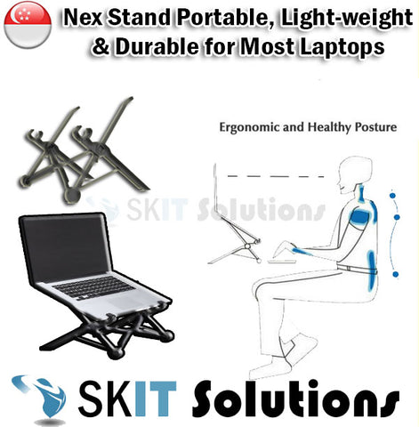 MA2625 Portable Laptop Foldable Height Adjustable Nex Stand Support with Sleeve
