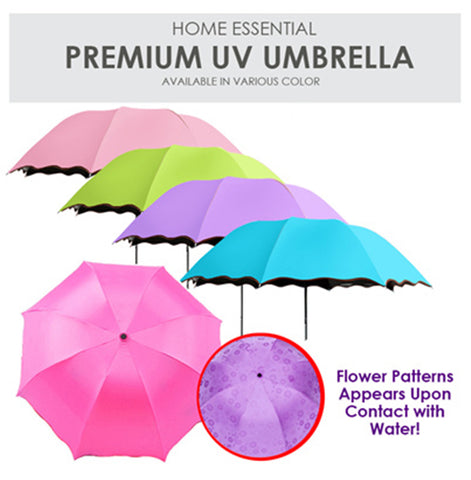 Premium Foldable UV Protection Umbrella with Inward Folding Design