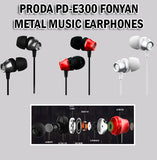 Proda Earphone Earpiece Metal Music Phone Handphone Samsung Android Apple iPhone Fonyan PD-E300