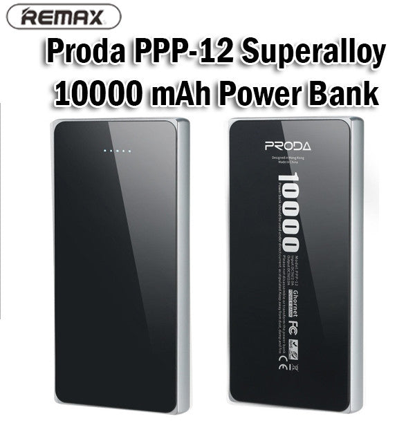 Remax Proda PPP-12 Superalloy 10000mAh Power Bank Portable Charger Charging