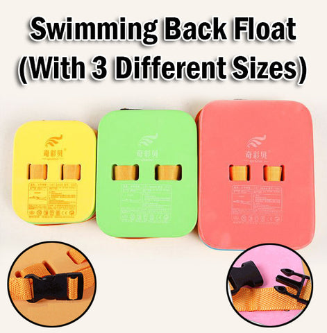 Swimming Back Float Swim Board Pool Tool Adults Kids Children with Safety Buckle
