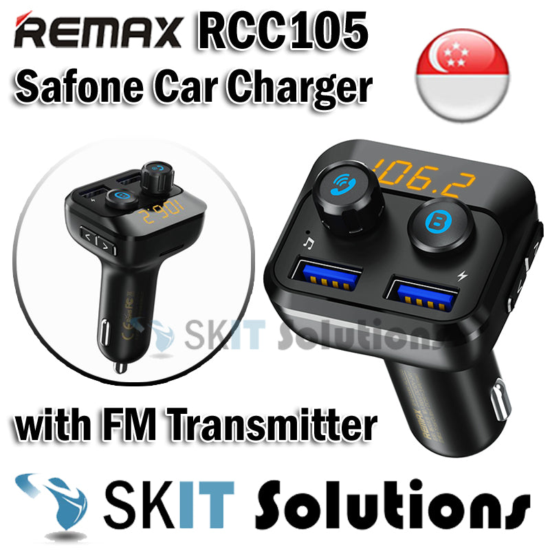 Remax RCC105 Safone Car Cigarette Charger with FM Transmitter