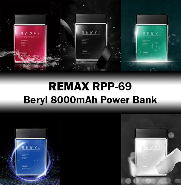Remax RPP-69 Beryl 8000mAh Power Bank Battery Portable Fashionable Style Design