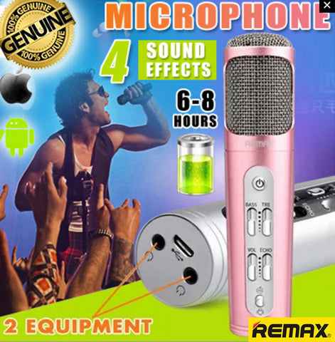 Remax K02 Wireless Smart Microphone Karaoke KTV for iPhone Android Phones PC