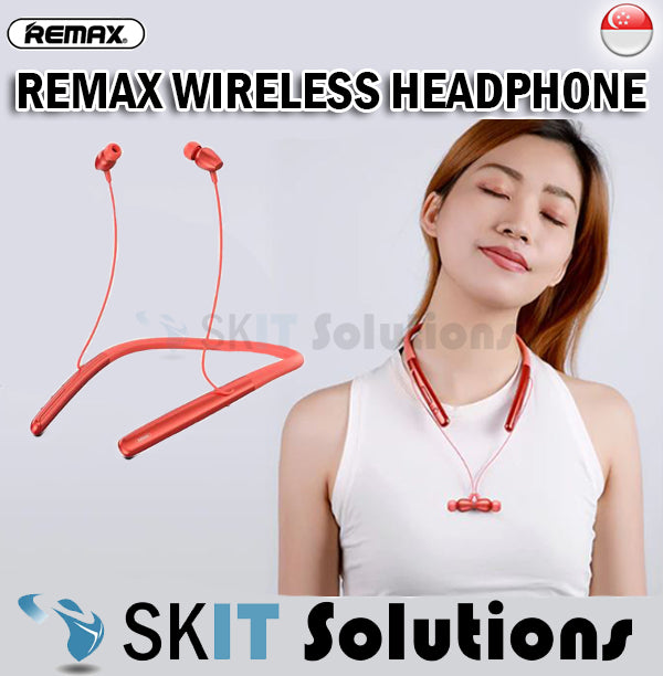 Remax RB-S16 Neckband Style Sports Wireless Headphone Stereo Earphone Earpiece Magnetic Music Calls