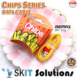 Remax Chips Data Cable RC-114 for Lightning / Micro / Type-C ★ 2.4A Fast Charge