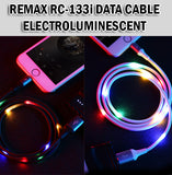 Remax Luminous EL Data Cable iPhone Lightning Wire Colourful Lights Sound Activated RC-133i