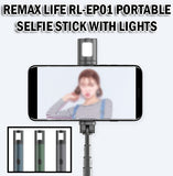 Remax Life Wireless Selfie Stick Lights Portable Travel Photo Stand Phone Handphone RL-EP01