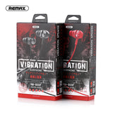 Remax RM-900F Vibration Earphone Noise Isolation Gaming Ear Piece IOS Android