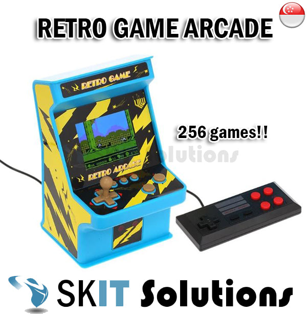 Retro Joystick Arcade Console 256 Classic Games Single/Double Player Colorful Screen Display w Audio