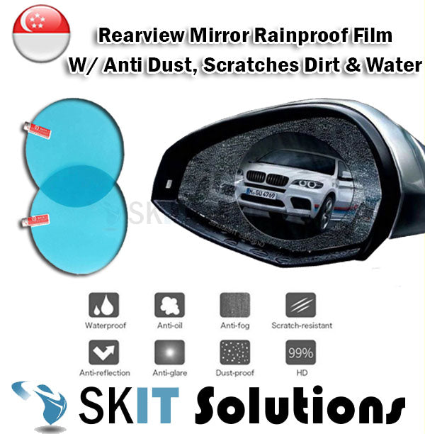 MA2624 2IN1 Protects Car Rearview Mirror Anti Fog Rainproof Film Sticker 80x80mm