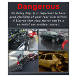 2IN1 Protects Car Rearview Mirror Anti Fog Dust Rain Proof Film Sticker 80x80mm