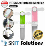 REMAX RT-EM09 Mini Foldable Portable Pocket-sized Fan with USB Cable Provided