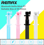 Remax P7 Bluetooth Remote Selfie Stick Handheld Rod Suitable for Size 55-90mm