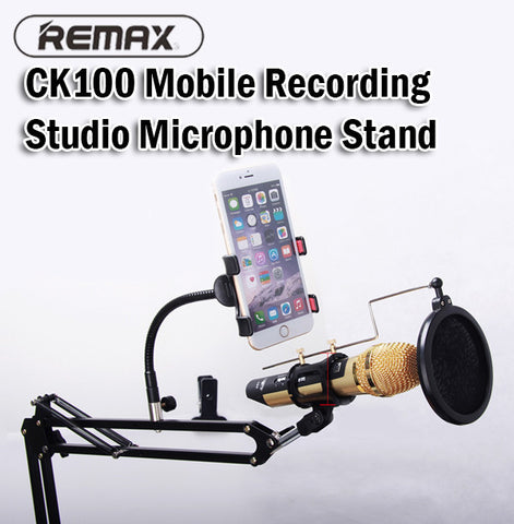 Remax CK100 Mobile Recording Studio Microphone Stand Handphone Phone iPad Mini