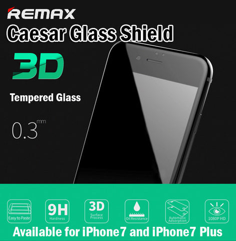 Remax Caesar 3D Glass Shield Tempered Glass iPhone7 iPhone7 Plus 7+ 0.3mm Curved