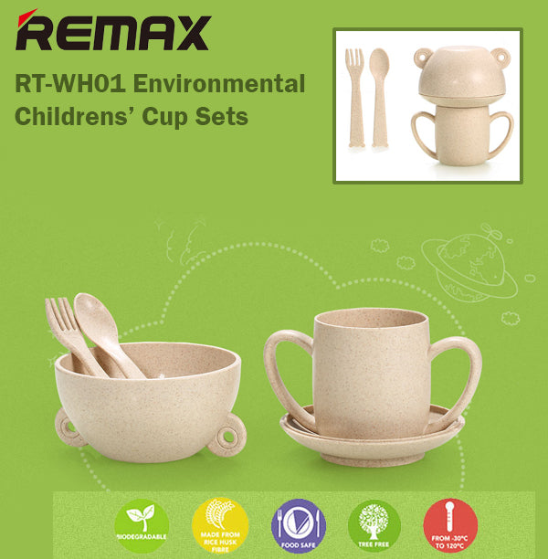 Remax RT-WH01 Mysum Children's Cup 5 Sets Suitable for Microwave Safe Child Kids